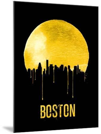 Boston Skyline Yellow--Mounted Art Print
