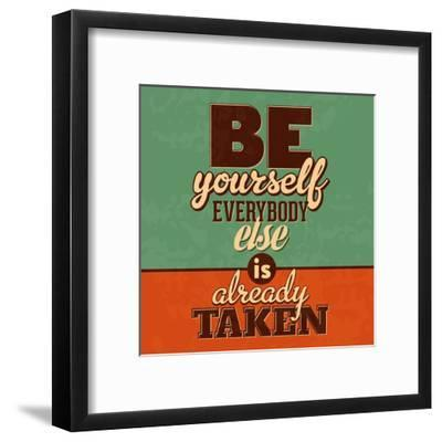 Everybody Else Is Already Taken-Lorand Okos-Framed Art Print