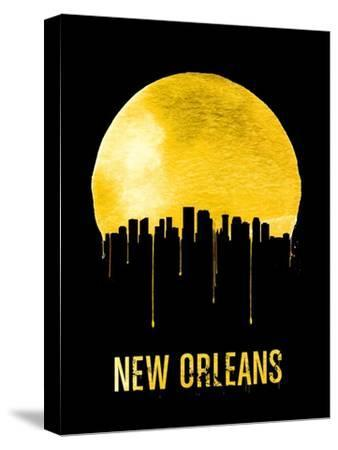 New Orleans Skyline Yellow--Stretched Canvas Print