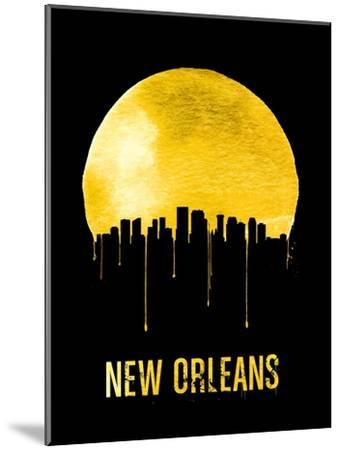 New Orleans Skyline Yellow--Mounted Art Print