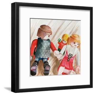 Photobomb-Jennifer Redstreake Geary-Framed Art Print