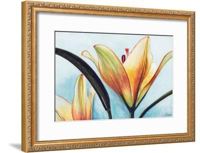 Lilies-Jennifer Redstreake Geary-Framed Art Print