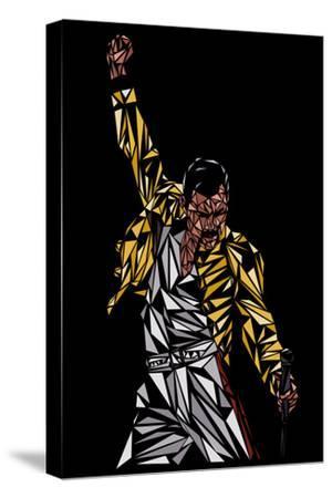 Freddie Mercury-Cristian Mielu-Stretched Canvas Print