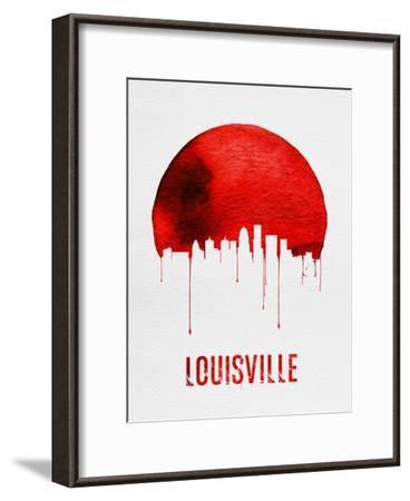 Louisville Skyline Red--Framed Art Print