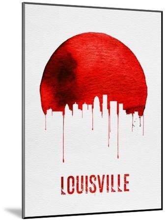 Louisville Skyline Red--Mounted Art Print
