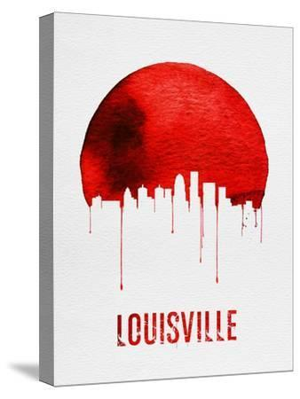 Louisville Skyline Red--Stretched Canvas Print