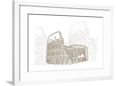 Coliseum-Cristian Mielu-Framed Art Print
