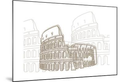 Coliseum-Cristian Mielu-Mounted Art Print