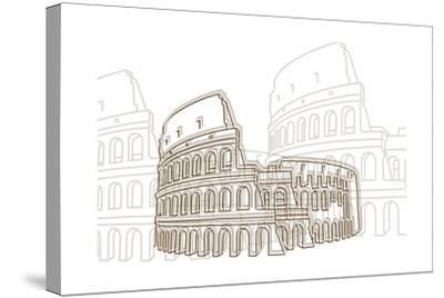 Coliseum-Cristian Mielu-Stretched Canvas Print