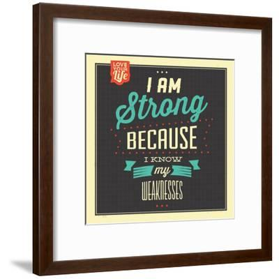 I'm Strong-Lorand Okos-Framed Art Print