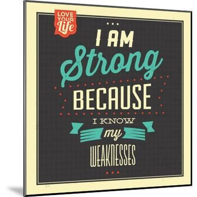 I'm Strong-Lorand Okos-Mounted Art Print
