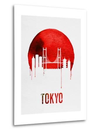Tokyo Skyline Red--Metal Print