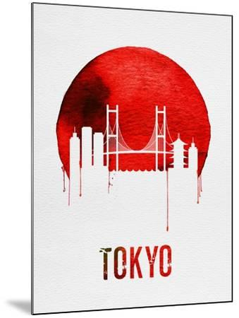 Tokyo Skyline Red--Mounted Art Print