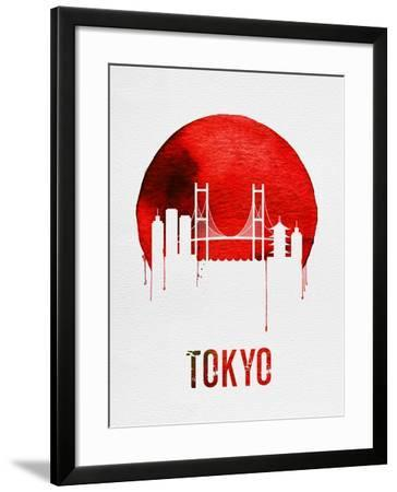 Tokyo Skyline Red--Framed Art Print