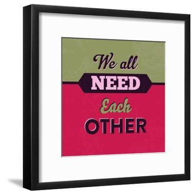 We All Need Each Other 1-Lorand Okos-Framed Art Print