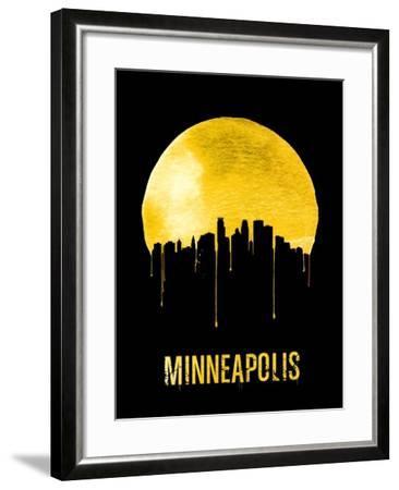 Minneapolis Skyline Yellow--Framed Art Print