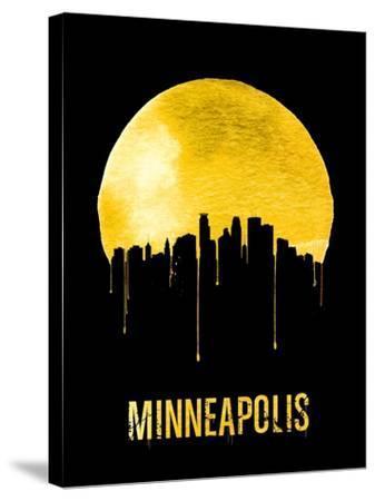 Minneapolis Skyline Yellow--Stretched Canvas Print
