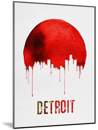 Detroit Skyline Red--Mounted Art Print