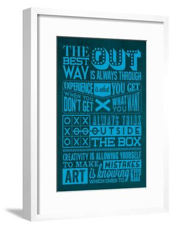Creative Set Blue-Lorand Okos-Framed Art Print