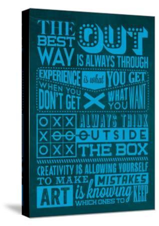 Creative Set Blue-Lorand Okos-Stretched Canvas Print