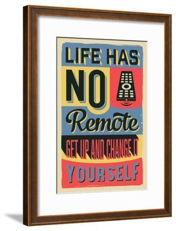 Get Up and Change Yourself-Vintage Vector Studio-Framed Art Print