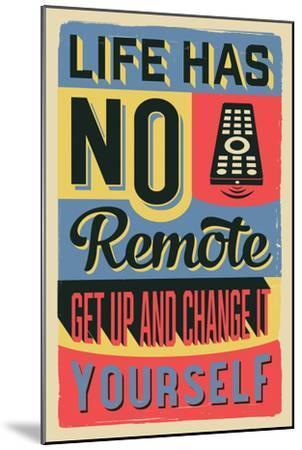 Get Up and Change Yourself-Vintage Vector Studio-Mounted Art Print