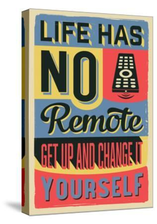 Get Up and Change Yourself-Vintage Vector Studio-Stretched Canvas Print
