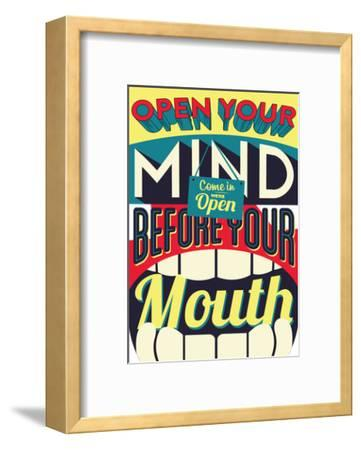 Open Your Mind-Vintage Vector Studio-Framed Premium Giclee Print