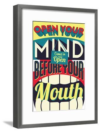 Open Your Mind-Vintage Vector Studio-Framed Art Print