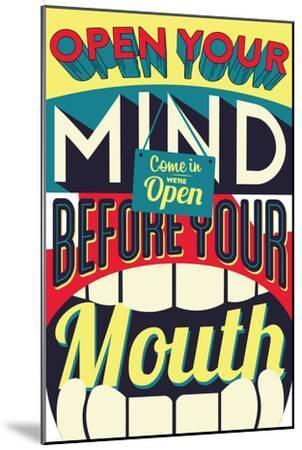 Open Your Mind-Vintage Vector Studio-Mounted Art Print