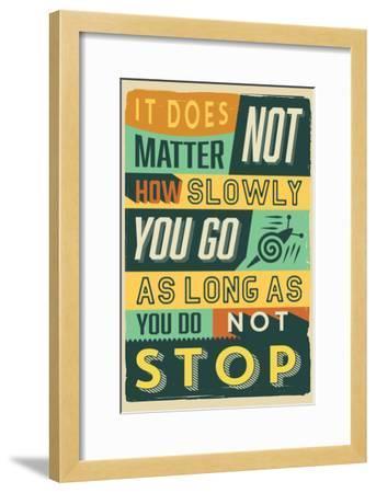 Do Not Stop-Vintage Vector Studio-Framed Art Print