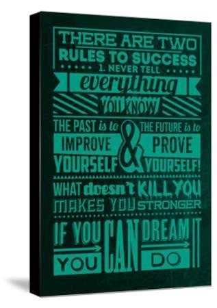 Success Set Green-Lorand Okos-Stretched Canvas Print