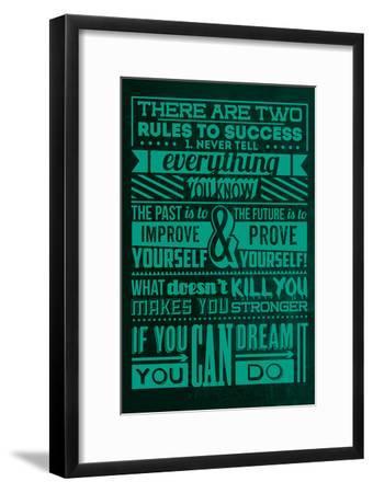 Success Set Green-Lorand Okos-Framed Art Print