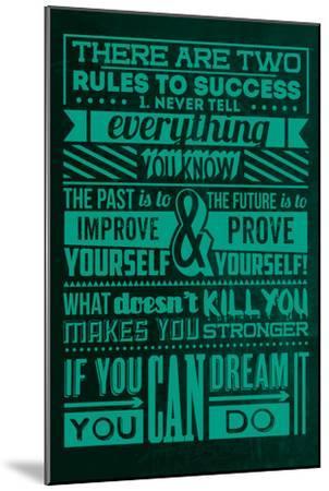 Success Set Green-Lorand Okos-Mounted Art Print