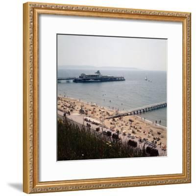 The Pier at Bournemouth 1971- Library-Framed Photographic Print
