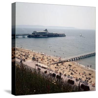 The Pier at Bournemouth 1971- Library-Stretched Canvas Print