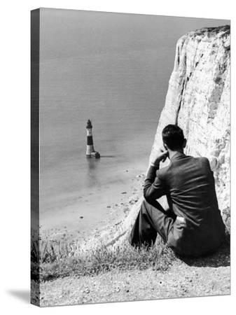 Beachy Head 1936-Sunday Mirror-Stretched Canvas Print