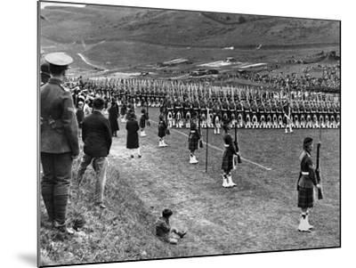Prince of Wales Inspects Seaforth Highlanders During a Trooping of the Colour, 1929-Staff-Mounted Photographic Print