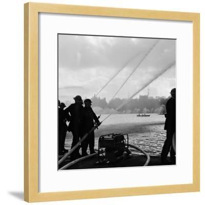 Auxiliary Fire Service exercise in Hyde Park, 1957-Ted Heanley M.B.E. D.F.C.-Framed Photographic Print