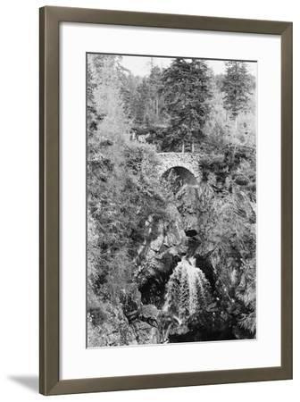 View of the Falls of Bruar in Perthshire, Scotland. Circa 1960-Howard Jones-Framed Photographic Print