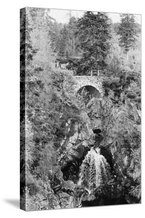 View of the Falls of Bruar in Perthshire, Scotland. Circa 1960-Howard Jones-Stretched Canvas Print