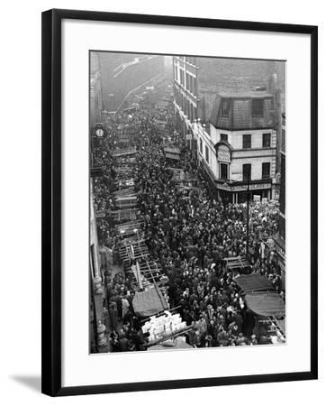 Petticoat Lane 1948-George Greenwell-Framed Photographic Print