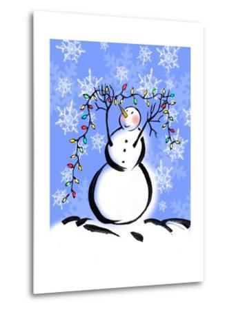 Silly Snowmen I-Nicholas Biscardi-Metal Print