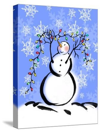Silly Snowmen I-Nicholas Biscardi-Stretched Canvas Print