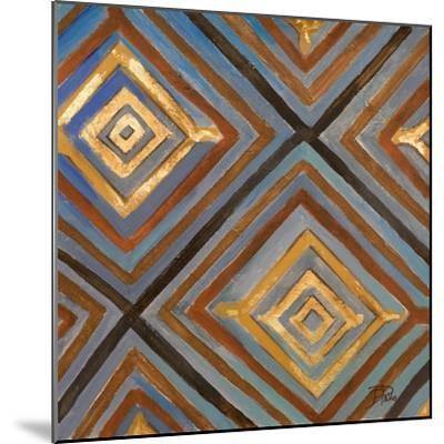 Ikat and Pattern with Gold-Patricia Pinto-Mounted Art Print