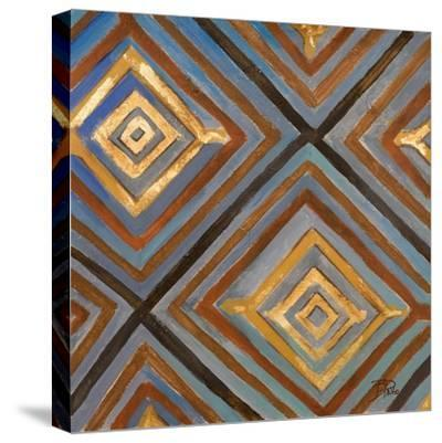 Ikat and Pattern with Gold-Patricia Pinto-Stretched Canvas Print