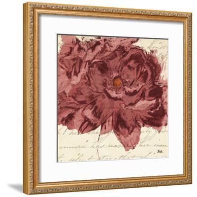 Marsala Peonies Square II-Patricia Pinto-Framed Art Print