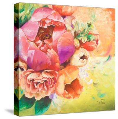 Beautiful Bouquet of Peonies I-Patricia Pinto-Stretched Canvas Print