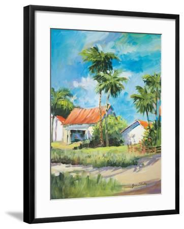 House on the Beach-Jane Slivka-Framed Premium Giclee Print