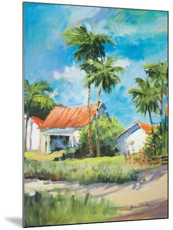 House on the Beach-Jane Slivka-Mounted Premium Giclee Print